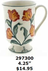 redflowery tulips mug