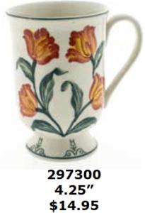 redflowery tulips mug