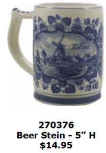 windmill and floral mug