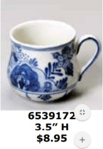 small round teacup mug