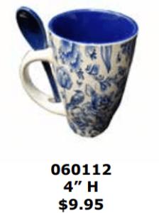 abstract windmill pedestal mug