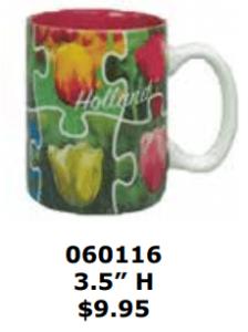 tulip tile puzzle coffee mug