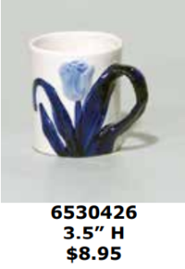 single blue tulip small cocoa mug