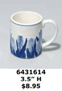 blue tulip delftblue cocoa mug