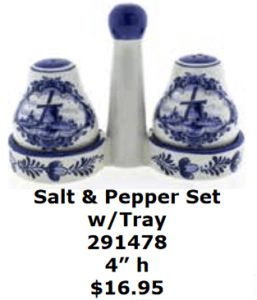 windmill delft blue salt and pepper tray