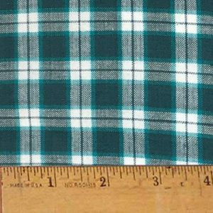 Homespun Turqoise Plaid Fabric