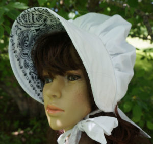 Summer Breeze Sunbonnet Bandana White
