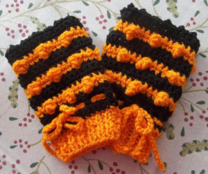 Steam Punk Halloween Color short fingerless gloves