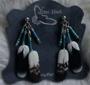 Golden Eagle Earring set silver hawk