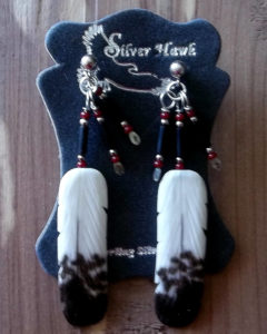 Immature Bald Eagle Earrings with dangles