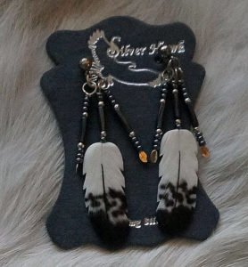 Immature Golden Eagle Earrng set with beaded dangles