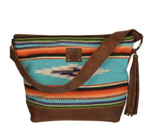 Saddle Blanket Purse over the shoulder strap
