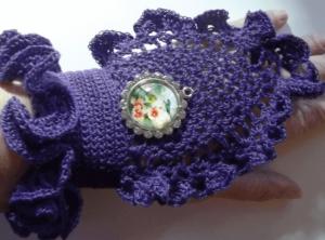 steam punk crocheted gloves victorian
