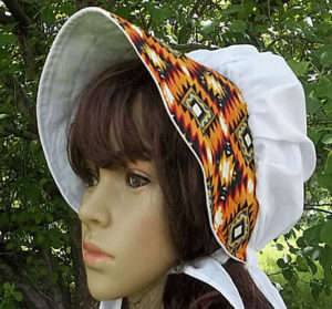 Southwest print ladies summer breeze bonnets