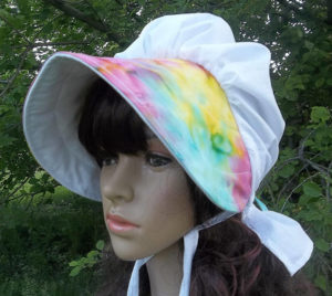 Summer Breeze Watercolor Brimmed Bonnet