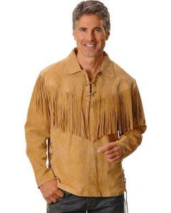 Leather fringe shirt