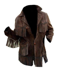 Men or Women's Dark Chocolate Suede Fringe Jacket