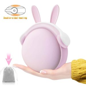 pink bunny rabbit ear hand warmer