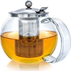Clear Glass Infuser Stove Top Teapot