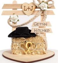 western wedding cake topper