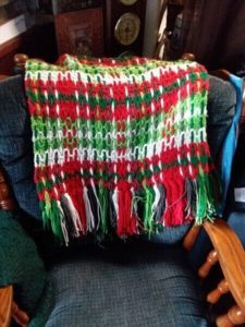 Handmade crocheted shawl