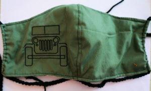 OD green Jeep mask