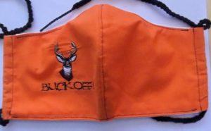 Orange Embroider face mask