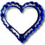 Valentines Scalloped Heart Shaped Cookie Cutter