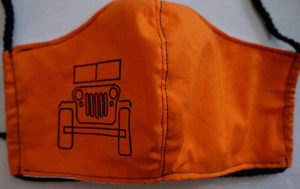 Hunters Orange Jeep Face Mask