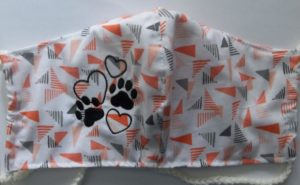 I love my dog heart print flu, allergy, covid mask