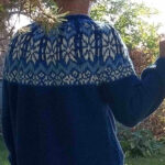 fair isle norwegian mens sweater in blue