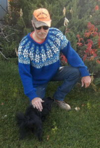 blue snowflake Norwegian sweater